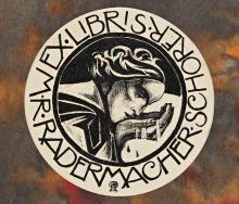 R,N. Roland Holst, Ex-libris voor M.R. Radermacher Schorer (1924)