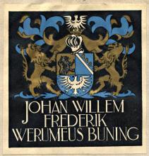 Ex libris J.W.F. Werumeus Buning (Koninklijke Bibliotheek Den Haag)