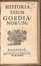 Gisbert Cuper, Historia trium Gordianorum (1697) (Koninklijke Bibliotheek Den Haag: aanvraagnummer KW 498 G 30)