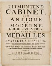 Veilingaankondiging van de bibliotheek van Gijsbert Cuper (1718) (Koninklijke Bibliotheek Den Haag)
