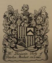 Ex-libris van Benjamin Furly