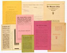 Collage van De Nieuwe Gids-materialen (Koninklijke Bibliotheek Den Haag, aanvraagnummer: KW 69 E 36)