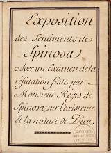 Achttiende-eeuws handschrift over Spinoza (Koninklijke Bibliotheek Den Haag, aanvraagnummer: KW 132 F 8)