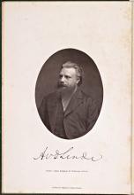 Portret van Antonius van der Linde, uit: Geschichte und Litteratur des Schachspiels (1874) (Koninklijke Bibliotheek Den Haag, aanvraagnummer: KW XSM 513)