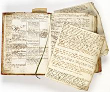 C.G. Saxes exemplaar van Onomasticon literarivm, met eigenhandige aantekeningen ten behoeve van de volgende druk (Koninklijke Bibliotheek Den Haag, aanvraagnummer: KW 393 J 1, p. 12)