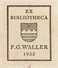 Ex-libris van F.G. Waller
