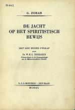 G. Zorab, De jacht op het spiritistisch bewijs (1939)